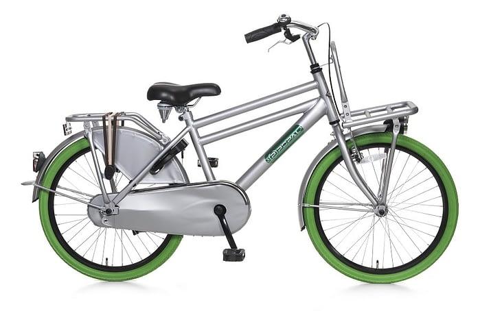 popal daily dutch basic jongens transportfiets 22 inch grijs groen