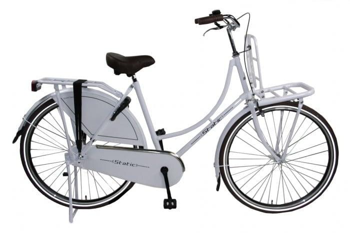 Static Omafiets 28 inch meisjes transportfiets 54cm wit