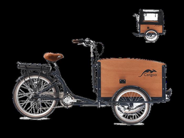 Cangoo Tour Elektrische Bakfiets E-bike Blauw naturel