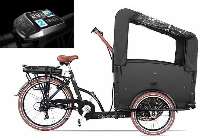 Troy-Elektrische-bakfiets-driewieler-Kleuren-display-7-speed-24-inch-26-inch