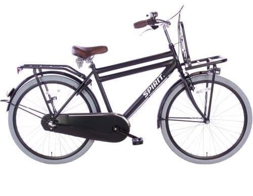 spirit-cargo-N3 26 inch Jongens transportfiets-mat-zwart-26663-500x450