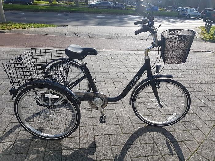 Popal Driewieler fiets voor volwassenen lage instap 24 inch 26 inch