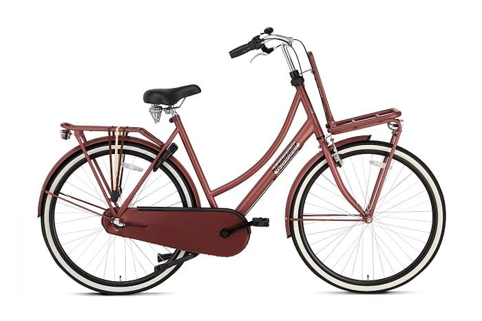 Popal Daily Dutch Basic plus 28 inch dames Transportfiets oak Red