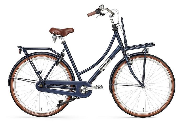 popal prestige N7 dames transportfiets 28 inch remnaaf donker blauw