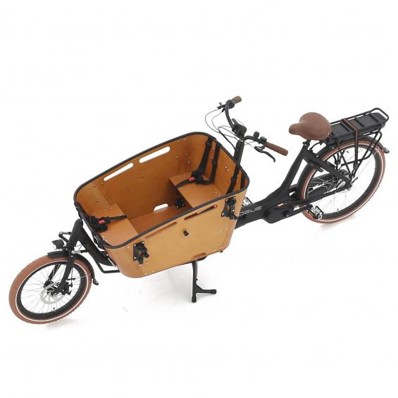 Vogue Carry 2 Tweewieler elektrische bakfiets met ondersteuning middnmotor bafang MAX Drive mat-zwart bruin binnenbak ba