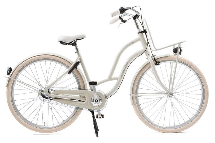avalon beach dames transportfiets 28 inch ivoor wit
