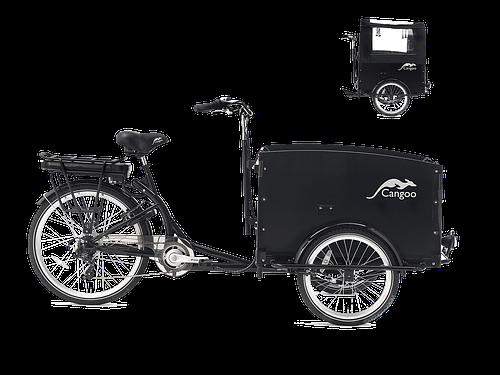 Cangoo Tour Elektrische Bakfiets E-bike Zwart