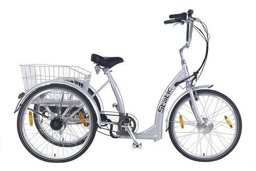 static elektrische driewieler 7 speed grijs