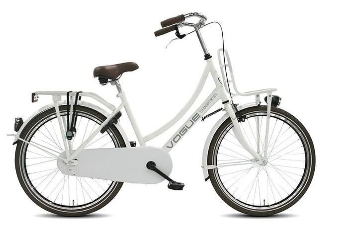 Transportfiets Vogue Transporter Meisjesfiets 24 inch wit/Creme