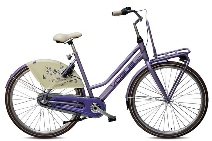Vogue paris dames transportfiets paars
