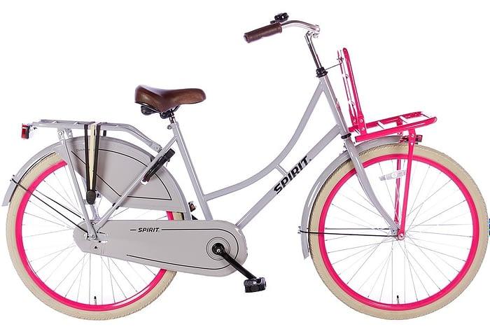 spirit-omafiets 26 inch-grijs roze