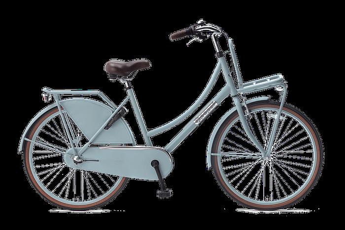 Popal daily dutch 26 inch N3 Meisjesfiets Transportfiets 26 inch met versnellingen mat blauw