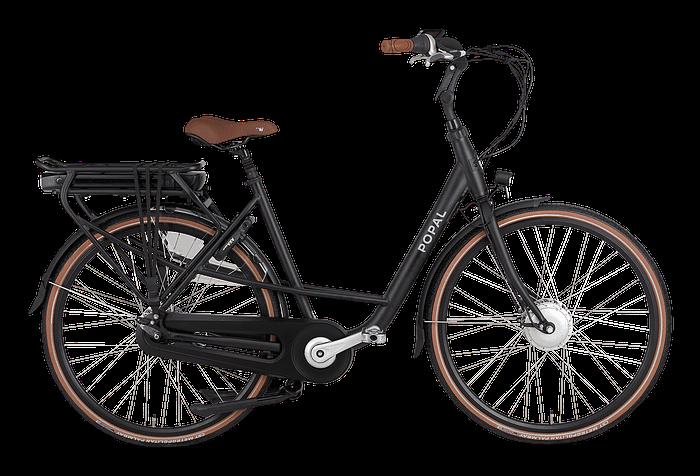 Popal Maeve Fm Elektrische moederfiets 28 inch lage frame fiets 47cm mamafiets Ebike Zwart