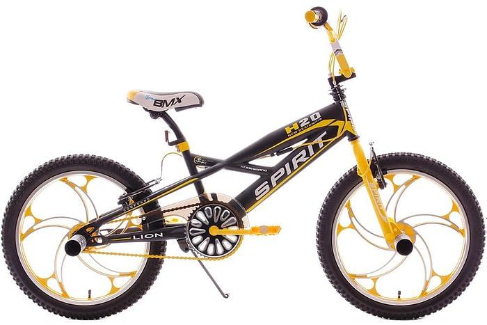 Spirit Lion Bmx 20 inch: Zwart-Geel