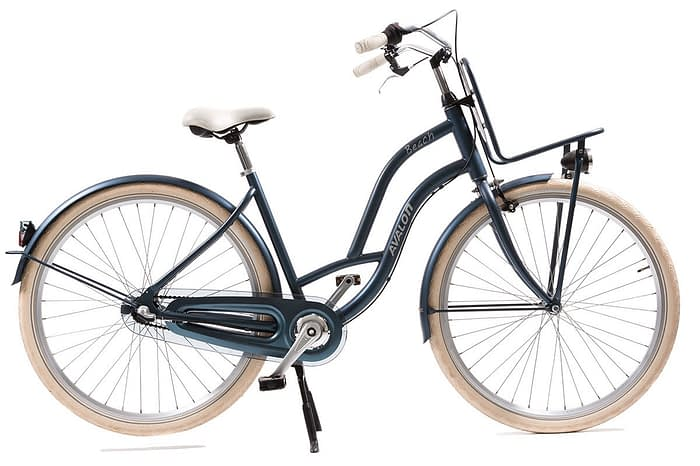avalon beach dames transportfiets 28 inch mat blauw