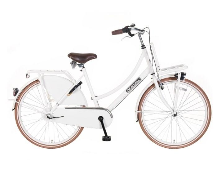 Meisjes Transportfiets Popal-Daily-Dutch-N3-Basic-Plus-24/26-inch-wit