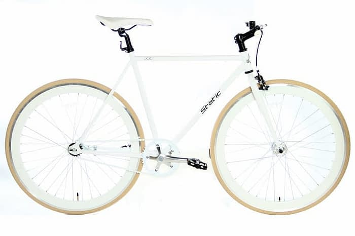 Static Fixed Gear 28 inch 57cm wit