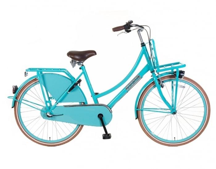 Meisjes Transportfiets popal Daily Dutch 24/26 inch N3 Basic Plus Blauw
