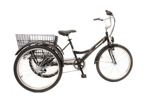 Umit-Driewieler-Senioren-24-inch-Zwart-100-RIJKLAAR-GELEVERD-Nieuw
