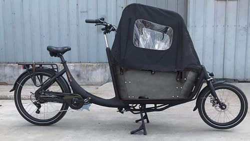 Vogue Superior 2 elektrische bakfiets twee wieler 7speed zwart zwart