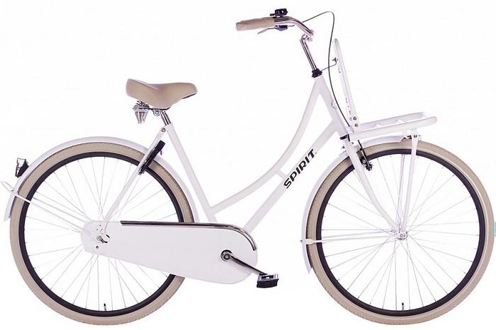 spirit-retro dames fiets mat-wit