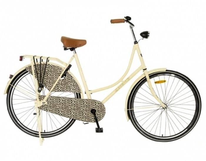 Popal omafiets 28 inch Creme Luipaard