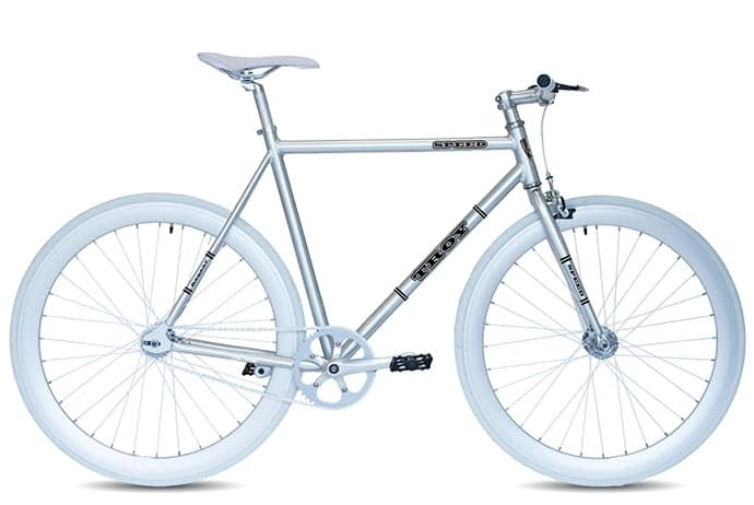 Troy speed fixedgear fiets chroom