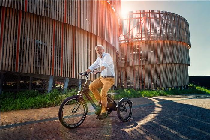 Huka vasco Huka Vasco volwassen driewieler fiets Huka vasco Vooraanzicht driewieler fiets senioren