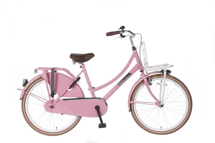 Meisjes Transportfiets Popal daily dutch basic 24 inch Roze
