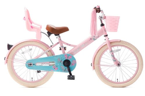 little miss 18 inch meisjesfiets roze