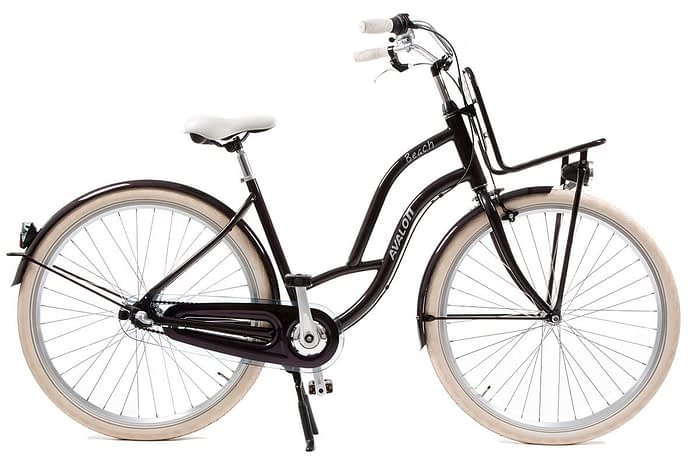 avalon beach dames transportfiets 28 inch Donker paars metallic