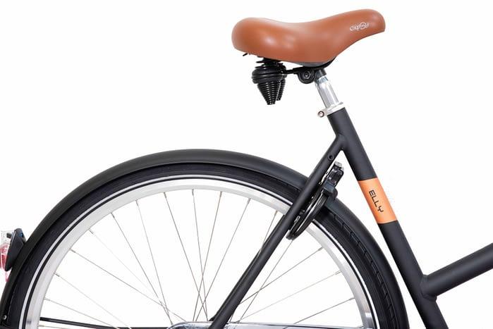 Elly Damesfiets 28 inch Transportfiets meisjesfiets kleur mat zwart 1