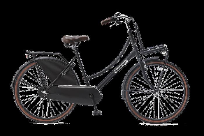 Popal daily dutch 26 inch N3 Meisjesfiets Transportfiets 26 inch met versnellingen mat-zwart