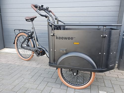 KeeWee E-Bike Bakfiets 24 inch 7-speed black-Brown