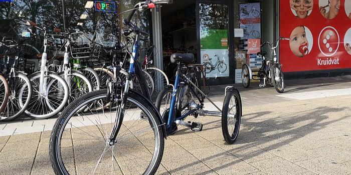 Lage instap driewieler fiets senioren Aldo lageinstap fiets