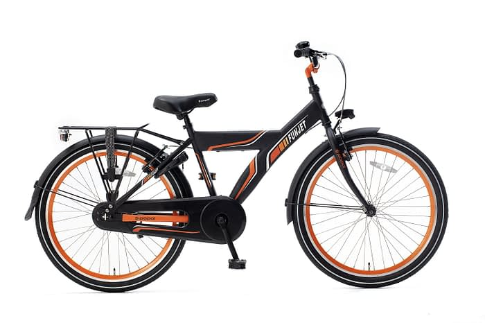 Popal FunJet X Jongensfiets 24 inch mat zwart oranje