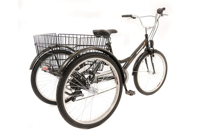 Umit-Driewieler-Senioren-24-inch-Zwart-100-RIJKLAAR-GELEVERD-Nieuw-2