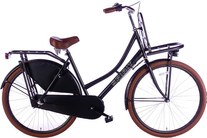 spirit-transporter-N3-mat-zwart-28 inch damesfiets
