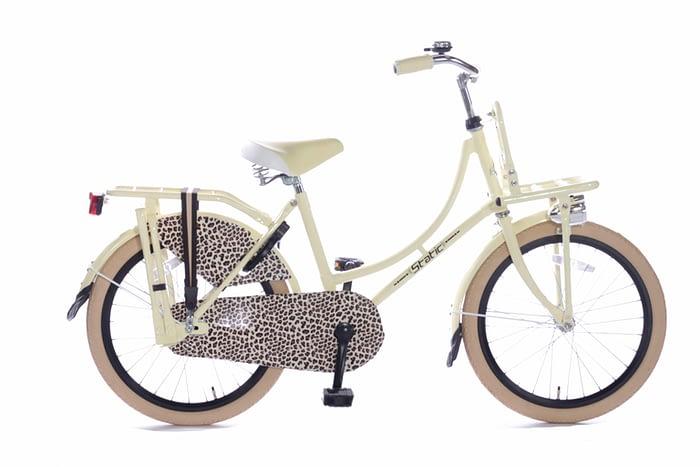 Static Omafiets 20 inch meisjes transportfiets luipaard