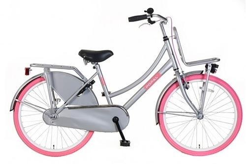 Popal Urban Basic Grijs Roze Transportfiets