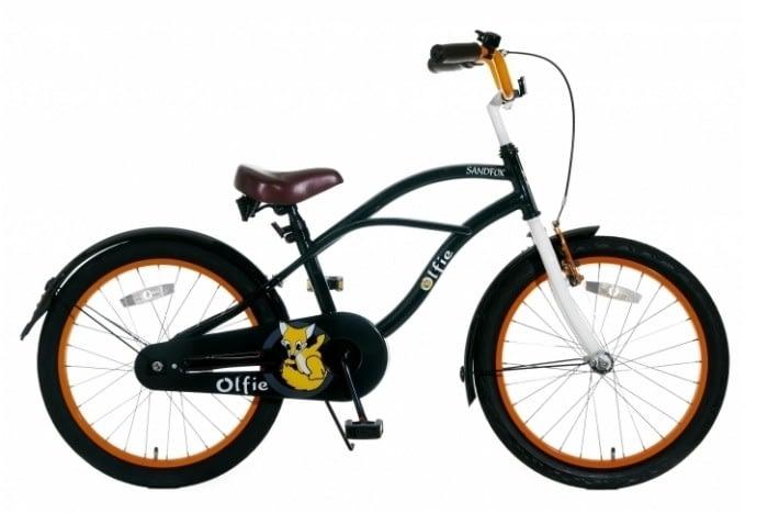 Olifie Sandfox cruiserfiets 20 inch: Zwart Oranje