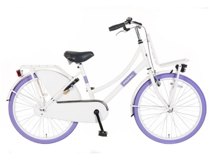 Popal Urban Basic Wit Paars Transportfiets