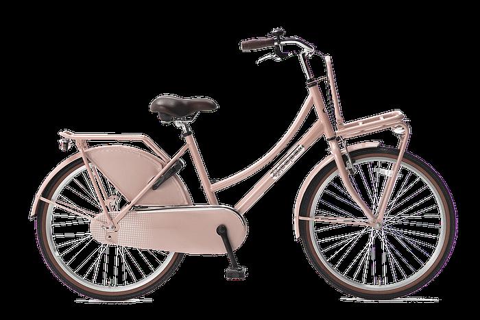 Popal Daily Dutch Basic zalm Roze Transportfiets 24 inch meisjesfiets