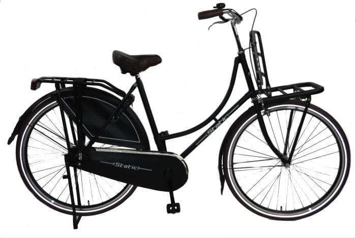 Static Omafiets 28 inch meisjes transportfiets 54cm mat-zwart