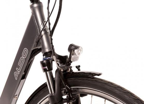 Aldo Lage Instap fiets Elektrisch inch Seven E-Bike 28 inch antraciet voorvork