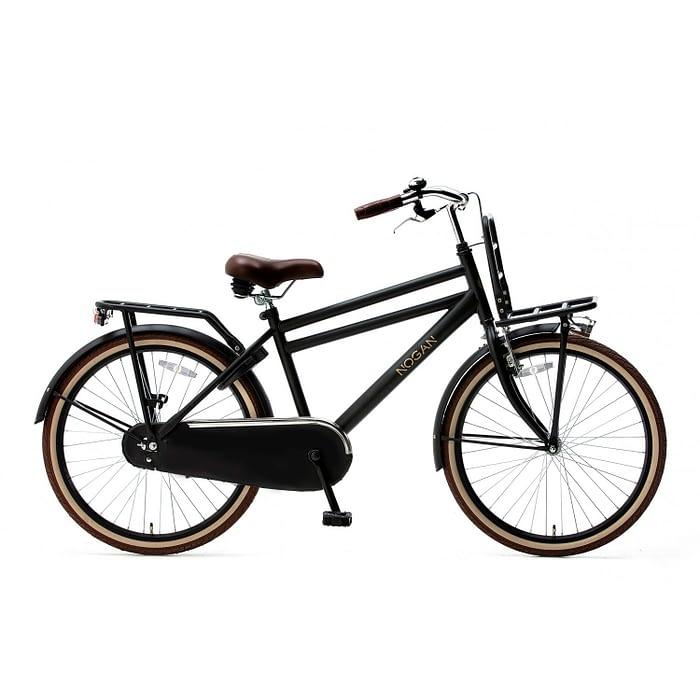 Nogan Vintage Jongensfiets 26 inch Transportfiets mat zwart Spirit Cargo Transportfietsen Popal Daily Dutch