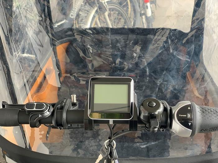 Popal elektrische bakfiets Cangoo Buckle 7V Mat Zwart display