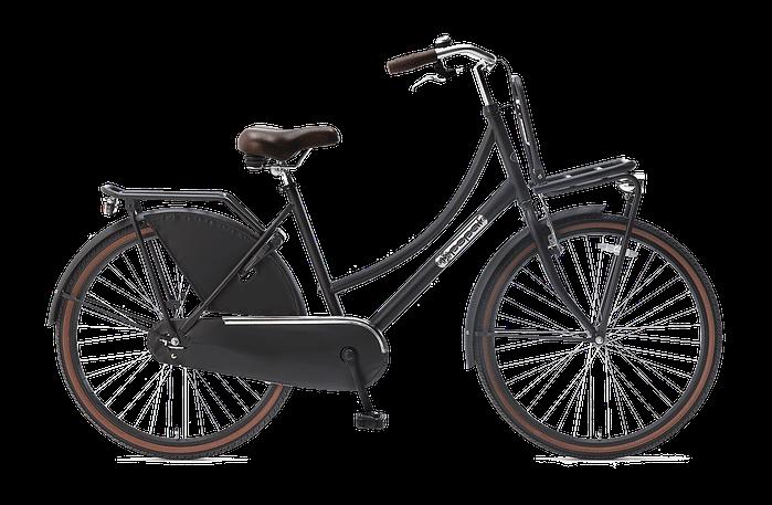 Popal Daily Dutch Basic 26 inch Transportfietsfiets mat-zwart