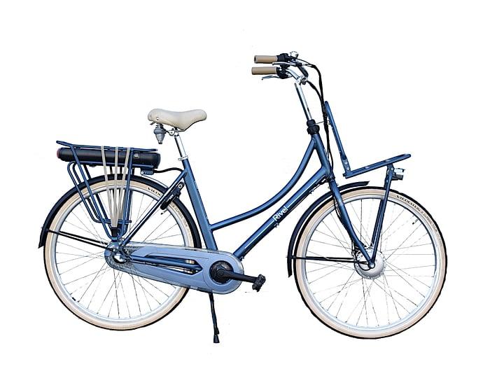 Rivel_Riviera_N3_Dames_mat Blauw Elektrische Transportfiets voor dames