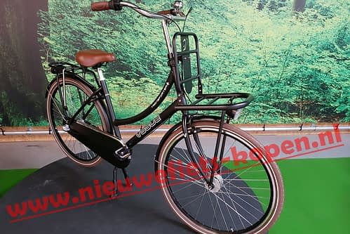 vogue transporter plus dames transportfiets mat zwart